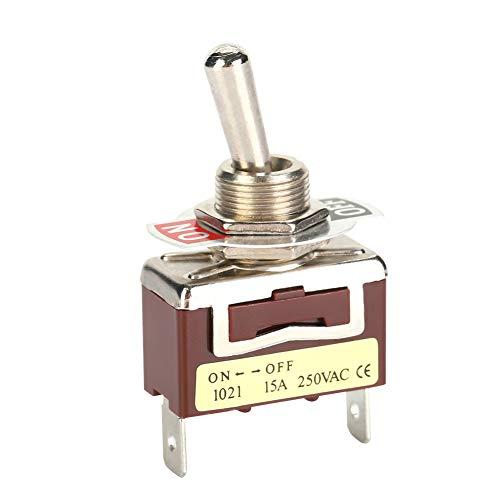 Yagosodee 5 unidades de 6. 3 pines rápidos 1021 mini interruptores basculantes de 2 pines, 2 posiciones.