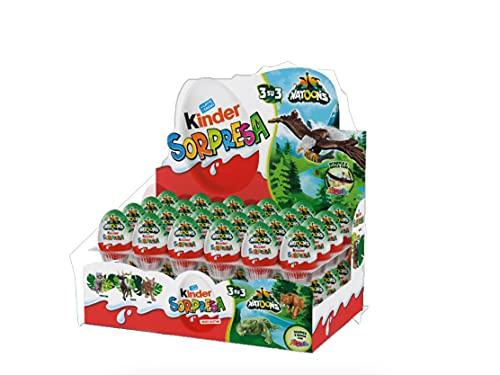Ovetti di cioccolata Kinder Sorpresa NATOONS Egg 20gr con cioccolato al latte giungla animali foresta (48)