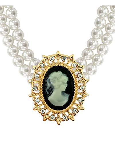 Horror-Shop Collier de Perle Baroque avec amulette