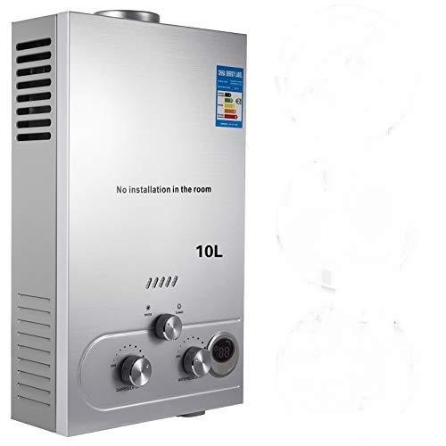 VEVOR Calentador de Gas 6L/8L/10L/12L/16L/18L, Calentador de Agua de Gas Natural, Calentador de Agua a Gas LNG, Calentador Gas, Calentador de Agua (10L)