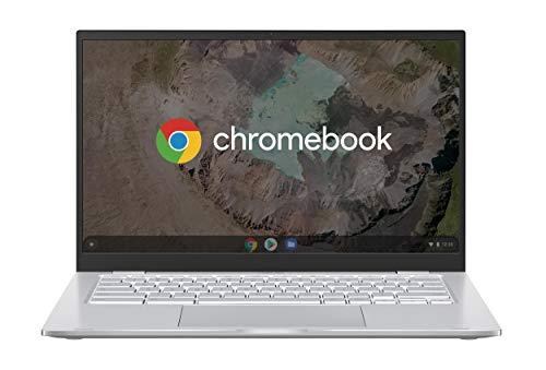 Asus Chromebook C425TA#B08CVC6RHV, Notebook in Alluminio con Monitor 14  Touchscreen FHD Glossy, Intel Core M3-8100Y, RAM 4GB, 128GB eMMC, Sistema Operativo Chrome, Argento