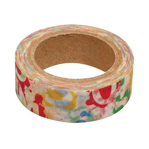 Ray - Washi tape blanc taches de peinture et chiffres