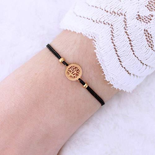 Filigranes Armband, Damen mit einem kleinen Lebensbaum, gold, perfektes Geschenk für Frauen und Mädchen