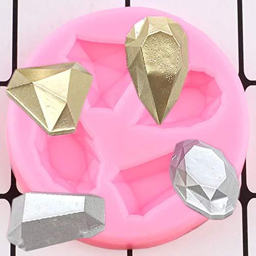 LNOFG 3D Craft Gem Silicone Mold Diamond Candy Chocolate Mold DIY Cake Decoration Tool