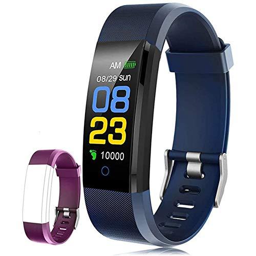 chebao, Reloj inteligente,Reloj inteligente de pantalla táctil,115plus inteligente pulsera de mano deportiva impermeable dispositivo de presión arterial