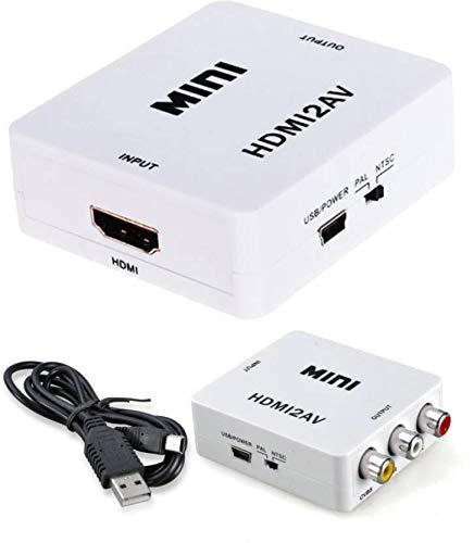 Rashri 1080P Hdmi Interface to Av HDMI2AV Converter HDMI to AV Video Audio Converter Mini Media Streaming Device Media Streaming Device (Multicolor)