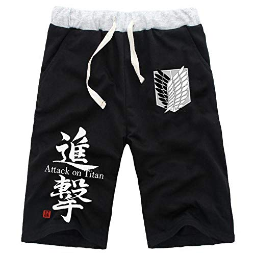 wywyet Anime Pantalones Cortos De Chándal para Attacking Giant Hombre Deportivo Jogger...