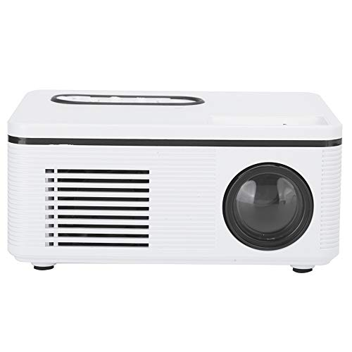 Mini proyector, Mini proyector portátil S361, Proyector doméstico, Soporte LED portátil Minitype, Proyector de video Proyector de películas al aire libre, Soporte de entrada HDMI 1080P y más(EU)