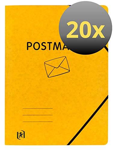 Oxford FolderSys - Carpetas postales (A4, cartón, 20 unidades), color amarillo