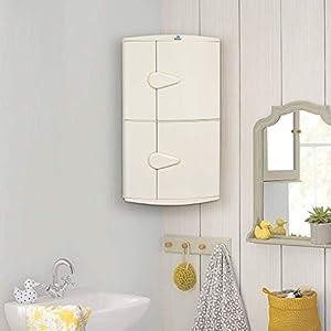Nilkamal 2 Door Plastic Storage Corner Cabinet (Ivory)