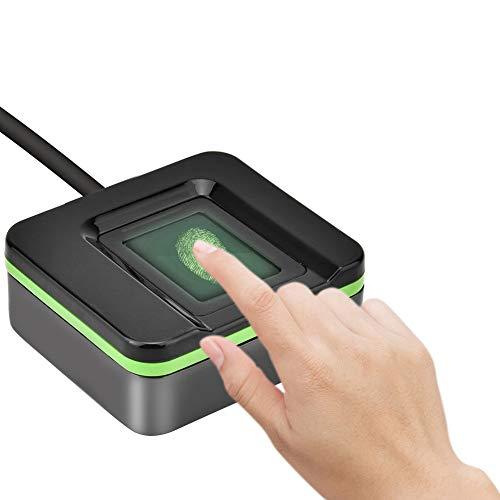 Lector biométrico de Huellas Dactilares USB, portátil seco/húmedo/Rugoso Escáner de Huellas Dactilares Vigilancia de Seguridad Sistema de Control de Acceso biométrico de Asistencia, para Oficina