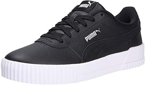 PUMA Carina L, Sneaker Donna, Nero Black White Silver, 37.5 EU