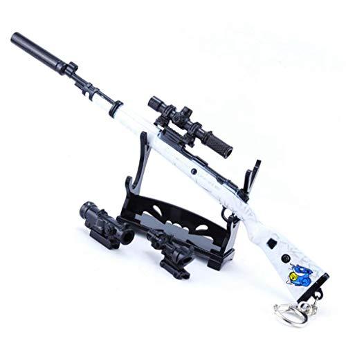 QIDUDZ 1/4 escala 98K rifle de francotirador modelo miniatura militar educación aprendizaje juguetes llavero colgante decoración de escritorio suministros de fiesta para niños adolescentes