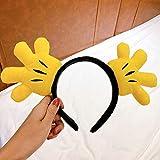 ZDXR Manos de palmas, diademas, amor dibujos animados, mujeres, vestido, diadema, cinturón de pelo, maquillaje, 1# Palm hair band-amarillo