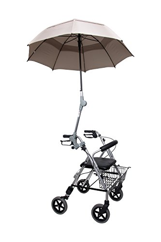 Rollatorschirm Regenschirm Sonnenschirm Schirm inkl. Befestigung beige