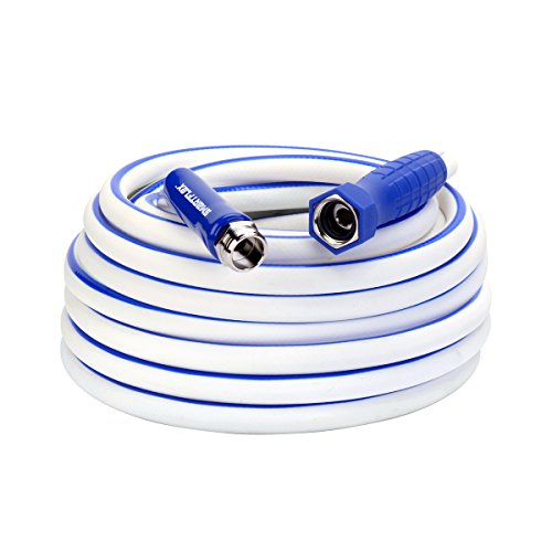Legacy Manufacturing HSFRV550 SmartFlex, 5/8' x 50', 3/4'-11 1/2 GHT Fittings RV/Marine Water Hose, (inches) (feet)