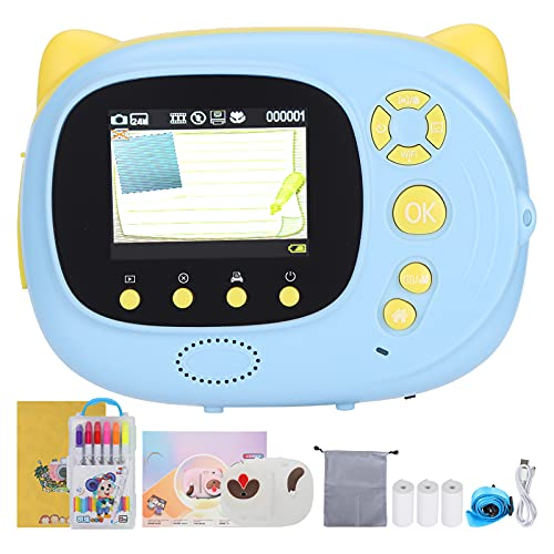 Instant Camera Oplaadbare Kinderen Print Camera Instant Mini Kids WiFi Timer Draagbare High Definition Selfie P40 (Blauw…