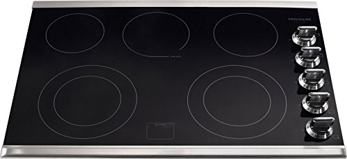 """Frigidaire FGEC3067MS 30"""" Smooth Top Electric Cooktop, Black, Stainless Trim"""