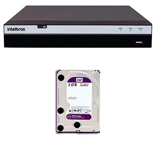 DVR Stand Alone Intelbras MHDX 3108 08 Canais Full HD 1080p Multi HD + HD WD Purple 2TB