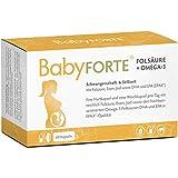 BabyFORTE Folsäure + Omega-3 – Vitamine Schwangerschaft & Stillzeit - 60 Kapseln – 17 Nährstoffe + DHA & EPA – Hergestellt in Deutschland