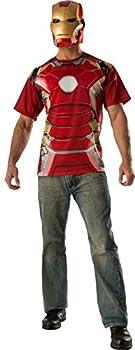 Rubie s Men s Avengers 2 Age Of Mark 43  Iron Man T-Shirt and Mask,Multi,Large