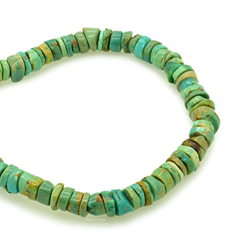 Bluejoy Genuine Natural American Turquoise Round Bead 16 inch Strand for Jewelry Making 5.5mm