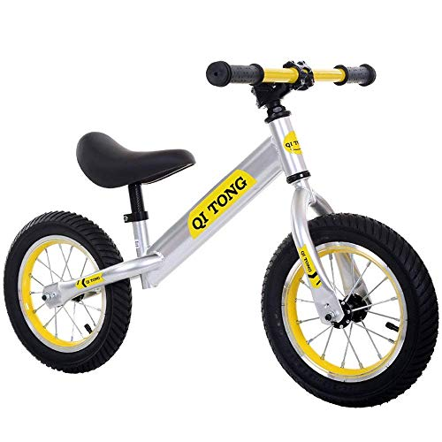 LHQ-HQ Bicicletas Niños de equilibrio de las muchachas de 12' Balance de bicicletas sin pedal de aire Neumáticos antideslizante manillar ajustable del asiento for niños y niños pequeños empuje y zanca