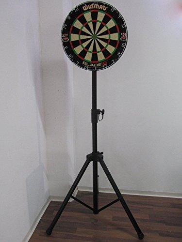 WINMAU Blade 5 Sisal Dartboard im Set mit Ständer