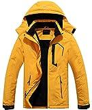 Pooluly Men's Ski Jacket Warm Winter Waterproof Windbreaker Hooded Raincoat Snowboarding Jackets
