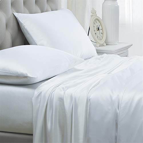 Orose 4Pcs 100% Charmeuse Mulberry Silk Bed Sheet ...
