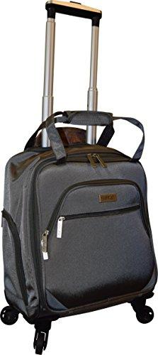 New York Chocolate Travel 18 Inch Carry-On Wheeled Luggage (Grey)