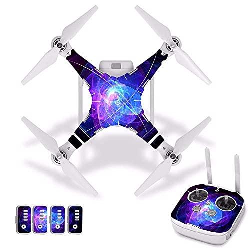 Accesorios para drones Flor de fuego Etiqueta impermeable de PVC para la piel para DJI Phantom 3 Película protectora para el cuerpo del dron + Cubierta del control remoto [J30006] Accesorios para cuad