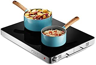 Magic Mill Electric Warming Tray with Adjustable Temperature Control, Perfect for Buffets, Restaurants,House Parties, Events, and, Glass Top Large 21