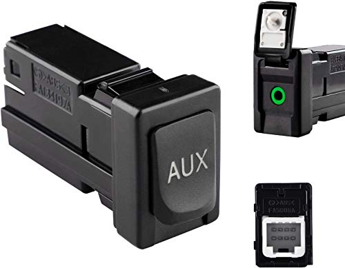 Reeoutdoor 86190-02010 Aux Jack Port fit Tacoma Corolla Tundra Aux Port Auxiliary Input Jack Stereo Adapter Assembly, 86190 02010