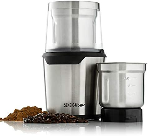 Sensio Home Coffee Grinder Electric Coffee Bean Herb Spice Grinder Machine Two Detachable 2 product image