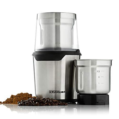 Sensio Home Coffee Grinder | Electric Coffee Bean, Herb & Spice...