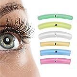 Libeauty Lash Lift Rods Pads 12 PCS Eyelash Perm Lift Silicone Pads 6 Size Colorful Reusable Eyelash Perming Curler Shield Pads for Perfect Lasting Eyelash Lifting
