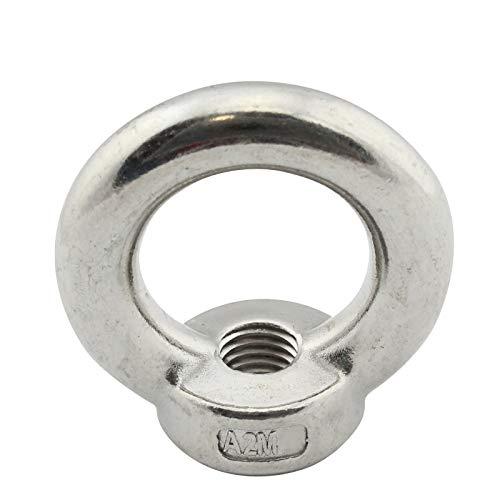 D2D | VPE: 2 Stück - Ringmuttern M6 gegossen und poliert ähnl. DIN 582 aus Edelstahl A2 V2A - Öse - Zurröse - Transportöse