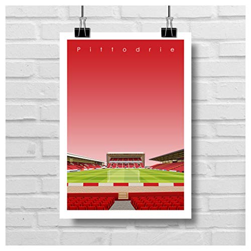 Home.Ground.Prints Wall Art Graphic Design Football Stadium Gift Print Collection - Aberdeen FC 'Pittodrie'