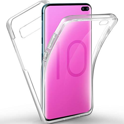 AROYI Samsung Galaxy S10 Plus Hülle 360 Grad Handyhülle, Silikon Full Schutz Cover [PC Zurück+ TPU Vorderseite] [Fingerabdruck-Entriegelung unterstützen] Vorne und Hinten Schutzhülle für Samsung S10+