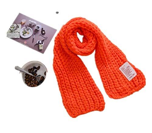 Warme Meerdere manieren om de gebreide sjaal van kinderen te dragen Prachtig uiterlijk 20×130cm Rood