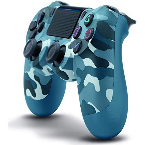 Drahtloser Dual Shock 4 Sixaxis Gaming Joystick für PS4-Controller für Playstation 4 / PS4 Pro mit LED-Leiste und klickbarem Multi-Touch-Touchpad,Blau