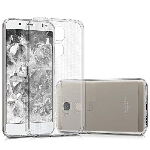 kwmobile Funda Compatible con bq Aquaris VS Plus - Carcasa de TPU para móvil - Cover Trasero en Transparente