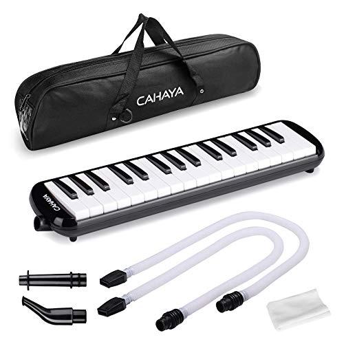 Melodica, Cahaya 32-Noten mit Tasche und Mundstück für Kinder -Schwarz