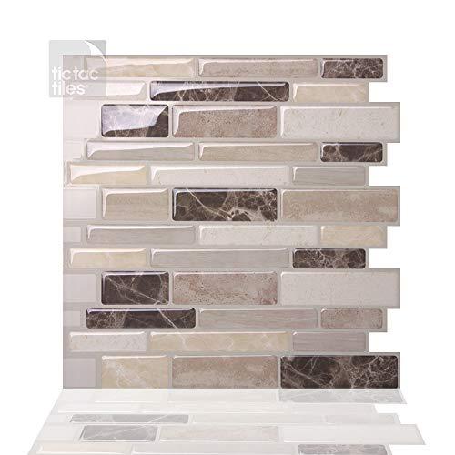 Tic Tac Tiles Pelar anti baldosas del molde y la toma mural pared posterior En Polito Bella 10 10' x 10' Beige