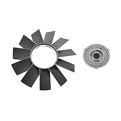 A-Premium Engine Cooling Fan Blade and Fan Clutch Replacement for BMW E34 E36 E39 E46 E53 323i 325i 328i 330i 525i 528i M3 X5 2-PC Set