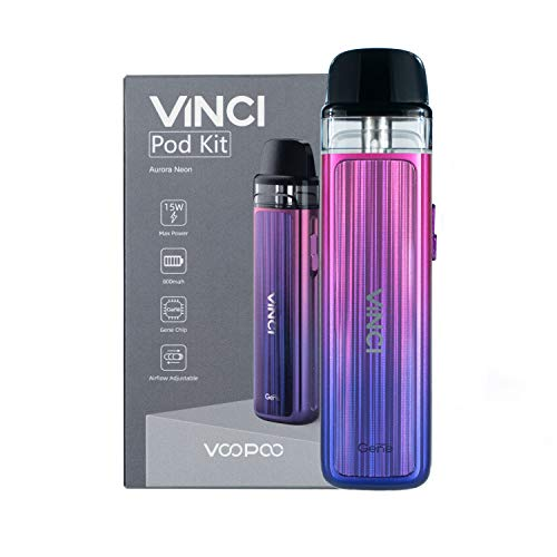 VOOPOO Vinci Pod Kit sigaretta elettronica 800mAh 2ml Kit completo - Senza nicotina San tabacco (Aurora Neon)
