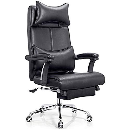 DDPHC Bürostuhl Gaming Desk Computer Stühle Ergonomische Konferenz Executive Manager Arbeitsstuhl Leder hohe Rückenlehne Einstellbarer Arbeitsstuhl