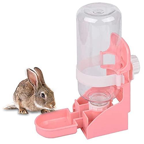 kathson Rabbit Water Bottle, 17oz Hanging Water Fountain Automatic Dispenser No Leak WaterFeeder for...