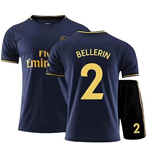 ZPR Héctor Bellerín # 2 Fußballtrikot Anzug Herren Kinder T-Shirt mit kurzen Ärmeln, alle Größen für Kinder und Erwachsene (Color : A, Size : Children-24)
